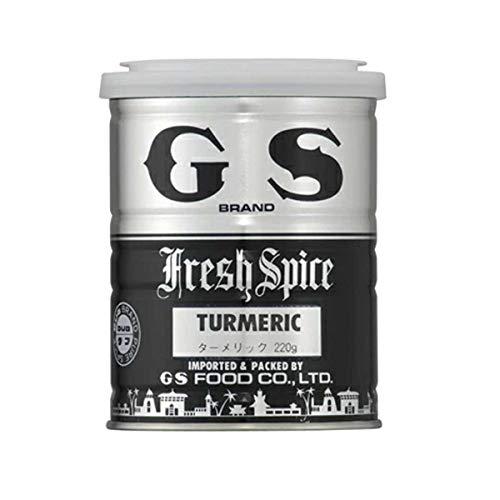 【常温】 ジーエスフード ターメリック ダブ印 220g 業務用 缶 スパイス