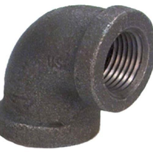 "5 1-1//4/"" Black 90 Degree Malleable Iron Pipe Fitting Elbow 520-006BG"