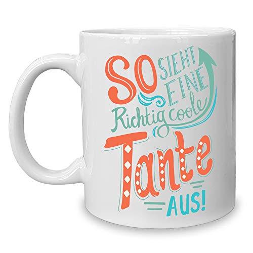 shirtdepartment - Kaffeebecher - Tasse - Geschenk für die Familie Tante