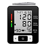 Wrist Blood Pressure Monitor Digital Automatic Blood Pressure Machine,Accurate Electric Blood Pressure Monitor Portable Heartbeat BP Monitor 2 90 Large LCD Display for Home Use-Blackkkk