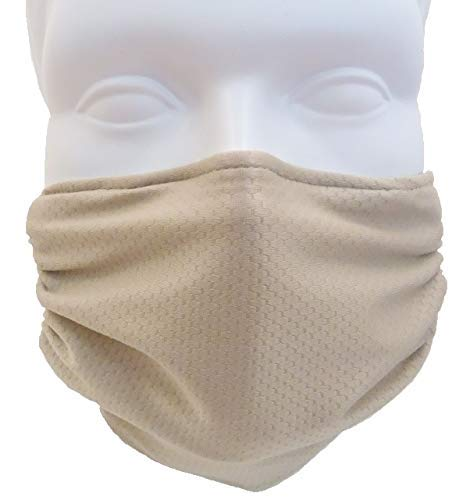 Comfy Mask by Breathe Healthy - Elastic Head Strap Dust Mask (Beige)