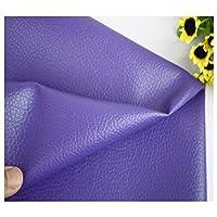 合皮 フェイク レザー 生地 ソフト 柔らかめ 薄手 幅140㎝ pu合皮 ハンドメイド DIY 製作 室内工芸品 DIY縫製 ソファ 飾り品などに広く使われて(Size:1.4x2m,Color:紫の)