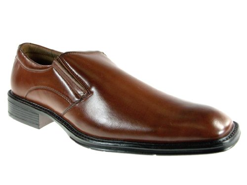 Men's 16010 Classic Round Toe Slip On Loafer Dress Shoes Brown