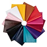 BENECREAT 12PCS Assorted Color Faux PU <span class='highlight'>Leather</span> <span class='highlight'>Leather</span>ette Vinyl <span class='highlight'>Leather</span> Cloth Canvas Back for Bag, Hat, Jewelry, Hair Crafts, Sewing and Decorations (20x34x0.04cm)