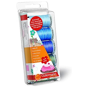 Gutermann Embroidery 30 - Lote de carretes de Hilo para máquina de Coser (100% algodón): Amazon.es: Hogar