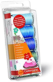 Gutermann Thread Set: Machine Emb. Cotton 30 - Blue/Green