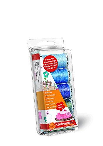 Sale!! Gutermann Thread Set: Machine Emb. Cotton 30 - Blue/Green