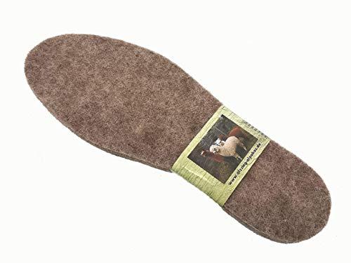 ALPAKASHOP-BAYERN | Schuheinlegesohlen Bequeme Isolierende Alpakasohle Extra warm, weich, atmungsaktiv verschiedene Größen | Alpaka Filz Thermoschuheinlagen
