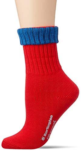 BURLINGTON Damen Plymouth W SO Socken, rot (Karmin 8071), 36-41