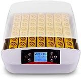 Pujuas Incubatrice Eggs Automatic 56 Uova con Funzione di Uovo Intelligente Digitale Apparecchio di incubazione Hatching Chick Incubator 56 Uova (56_LED Uova)
