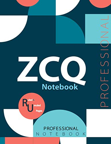 """ZCQ Notebook, Examination Preparation Notebook, Study writing notebook, Office writing notebook, 140 pages, 8.5"""" x 11"""", Glossy cover"""