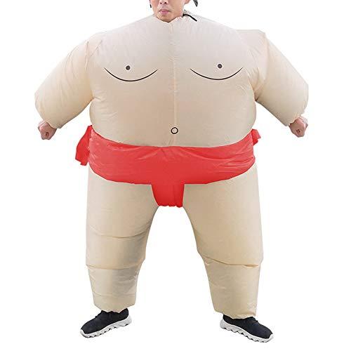 DXQDXQ Gaint Anzug Aufblasbares Kostüm Sumo Ringer Fasching Karneval Halloween Cosplay Fancy Dress Party Outfit Neuheit Spielzeug für Erwachsene Kinder Kleidung (Color : Red - L)
