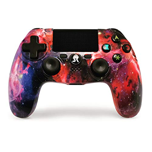 JL FUTURE PS4 Controller Wireless Nebula Style Dual Shock Hochleistungs Gaming Controller Für Playstation 4 / Pro/Slim/PC (für Playstation 4, Universum)
