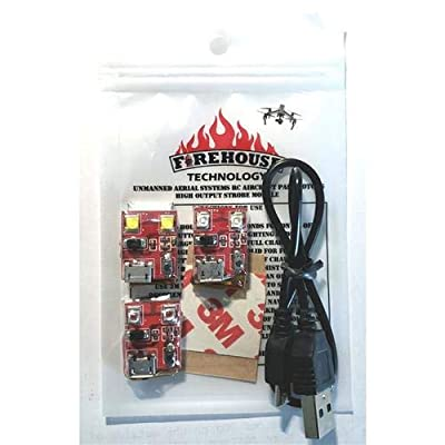 Firehouse Technology Dual Strobe 3 Light Kit for Drone UAS, All Aircraft & RC from Firehouse Technology