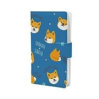 mitas Galaxy S9 SC-02K ケース 手帳型 しばたさん くろやなぎさん デザイン (378) フレンズヒル vol.8 ファニーしばたさん ブルー ERL-031-SC-6008-BU/SC-02K