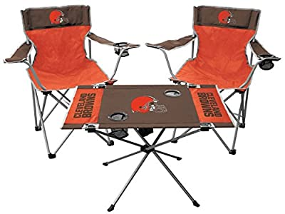 RAWLINGS NFL Cleveland Browns Tailgate Kit, Team Color, One Size