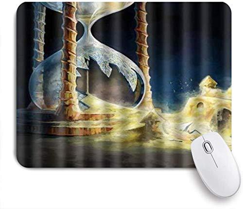 Benutzerdefiniertes Büro Mauspad,Sanduhr Kunst Populär kaputt,Anti-slip Rubber Base Gaming Mouse Pad Mat