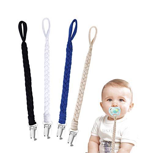 Cadenas para Chupetes Trenzado Hecho a Mano Clips De Chupete para Bebé Infante Niños y Niñas 4 Piezas #2