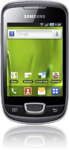 Samsung Galaxy Mini S5570 Smartphone (8,1 cm (3,2 Zoll) Display, Touchscreen, 3 Megapixel kamera, Android OS) grau