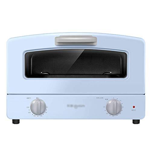 Accueil Cuisine Four Mini Four, Four Compact, Double Quartz tube en verre Chauffage, Type de tiroir Grilled net et 1000W Puissance de cuisson, 12 L (Color : Blue)