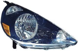 Fits Honda Fit 2007-2008 Headlight Assembly Unit Nighthawk Black (Code B92P) Passenger Side (CAPA Certified) HO2503131C