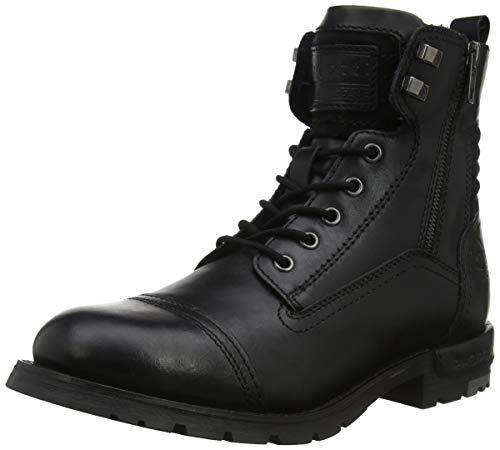 bugatti Herren 321611311200 Klassische Kurzschaft Stiefel Stiefel, Schwarz, 42 EU
