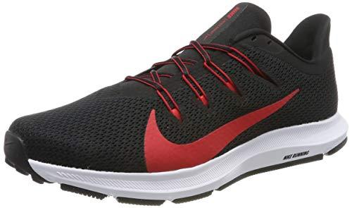 Nike Herren Quest 2 Laufschuhe, Schwarz (Black/Univ Red/White 001), 45 EU