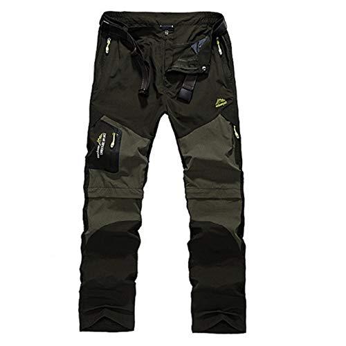 Capabes Pantalones elásticos para Acampar, Senderismo, Senderismo, Deportes al Aire Libre, Escalada, montañismo, Pesca, Pantalones con múltiples Bolsillos XL