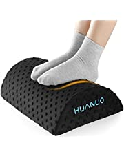 HUANUO Ergonomic Foot Rest for Under Desk with 2 Optional Covers, Non-Slip Foot Tool for Home Office Travel, 45.72 x 29.21 x 11.43 cm