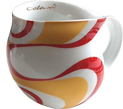 Luigi Colani dekorierte Kaffeetasse Becher Tasse Cappuccinotasse Kaffeebecher Wave Gold & Rot 280 ml