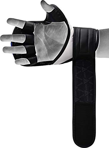 RDX MMA Gloves for Martial Arts Training & Sparring   Palm-O Maya Hide Leather Grappling Mitts  Good for Kickboxing, Muay Thai, Cage Fighting, Punching Bag
