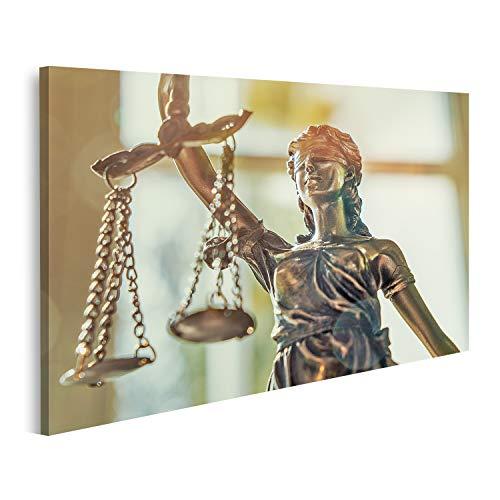 islandburner Bild Bilder auf Leinwand Statue der Gerechtigkeit Iustitia Justitia Römische Göttin Iustitia Wandbild Poster Leinwandbild GDKE