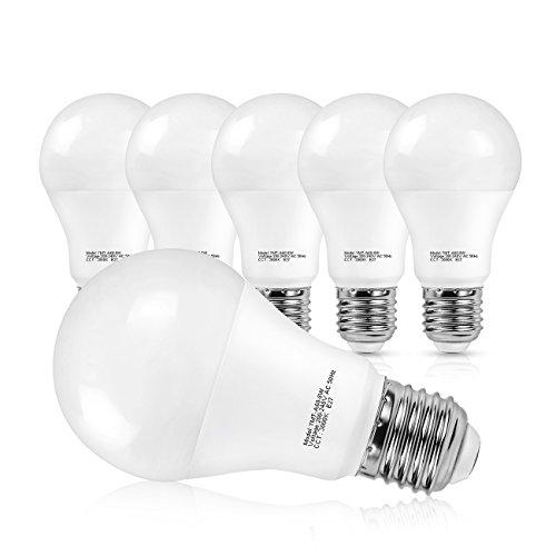 SHINE HAI Lampadina LED E27,8W equivalente a 60W,Luce Bianca Calda 3000k,800LM, Confezione da 6