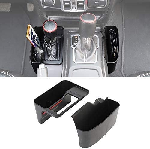 Savadicar JL GearTray Gear Shift Console Side Storage Box Auto Transmission Side Organizer Tray for 2018-2021 Jeep Wrangler JL JLU & Jeep Gladiator JT, Interior Accessories, Black