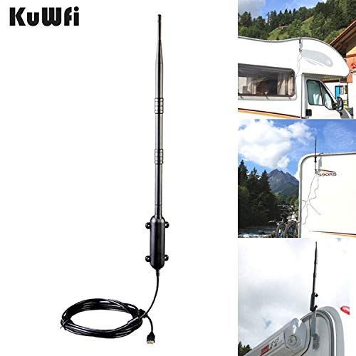 KuWFi 150Mbps Ralink RT3070 Max Distance Outdoor Wireless USB 2.0 Adapter IEEE802.11b/g/n Antenna...