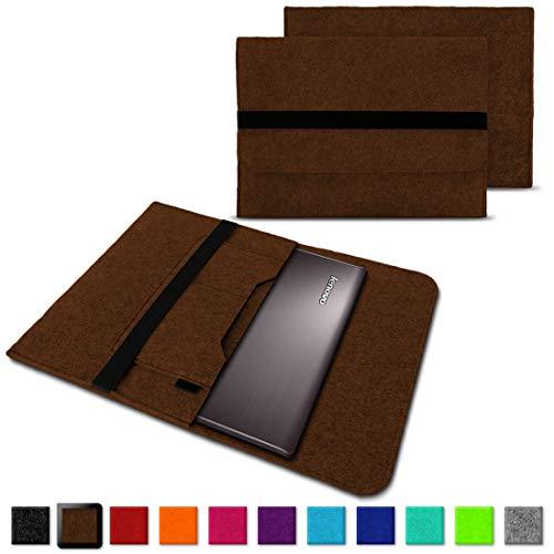 NAUC Notebook Tasche Hülle für Lenovo Yoga C930 900 900 S 910 510 520 530 710 720 730 13,3-14 Zoll Filz Sleeve Schutzhülle aus Filz mit Innentaschen, Farben:Braun