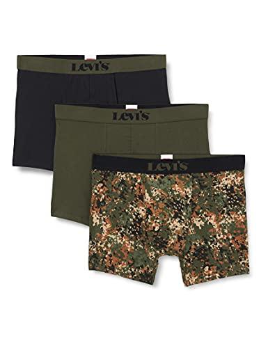 Levi's Mens Dotted Camo Men's Briefs Giftbox Boxer Shorts, Grey/Green, L