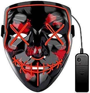 Mascara Led Mask The Purge Light Up Neon Skull Mask Party Festival Cosplay Costume Christmas Xmas New Year Gift Halloween ...