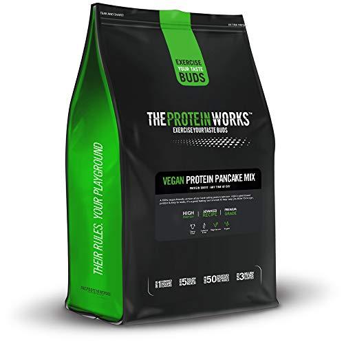Veganer Protein Pancake Mix | Wenig Zucker, hoher Proteingehalt, langsam freigesetzte Kohlenhydrate | THE PROTEIN WORKS, Original Klassiker, 500g