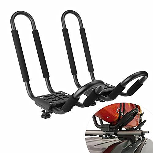 Portaequipajes para kayak, utilizado para el transporte de canoas en SUV y barras transversales de camiones, adecuado para transportar kayaks, canoas, tablas de surf, tablas de snowboard y tablas de