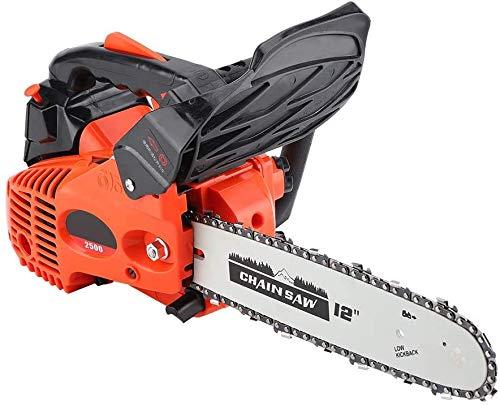 25.4CC Gas Chainsaw, 12' Gasoline Chainsaw Handheld Cordless Petrol Gasoline Chain Saw Wood Cutting Grindling Machine for Cutting Wood with Tool Kit,Garden Farm Home Use,3000r/min