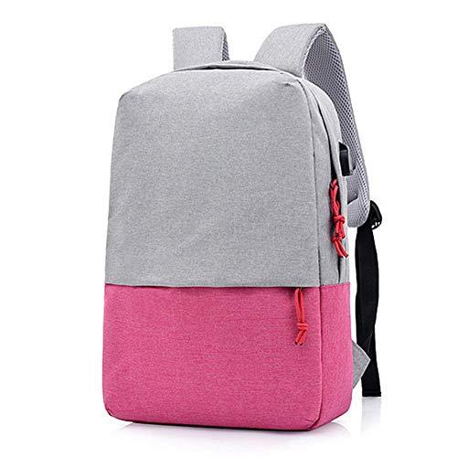 LNLJ Business-Computer-Rucksack, ultraflacher und langlebiger Laptop-Rucksack mit USB-Ladeanschluss, wasserdicht für Damen und Herren geeignet für 15,6