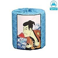 販促用トイレットペーパー 歌舞伎 青海波 個包装50個 ダブル30m