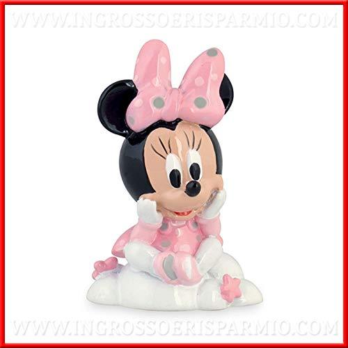 Ingrosso e Risparmio Statuina in Resina a Forma di Minnie Rosa su Una Nuvola Firmata Disney bomboniere Nascita, Battesimo, Primo Compleanno Femmina (Senza confezionamento)