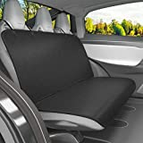 Dog Back Seat Covers with No-Skirt Design, Quilted & Durable 600 Denier Oxford 4 Layers Pet Bench Protectors with Anti-Slip Backing for Most Cars, SUVs & MPVs by Vivaglory, Black, 46' (L) 52' (W)