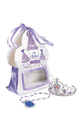 Rubie's Offizielle Sofia, die Erste-Handtasche aus Satin für Kinder, mit Diadem und Amulett–Einheitsgröße