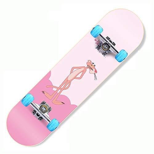Z-Meng ZhongSkateboards, Monopatín Profesional De 31 Pulgadas con Ruedas LED, Apto para Skate para Niños, Niñas, Niños, Adolescentes Y Adultos