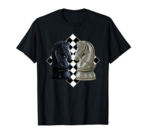 Pieza de ajedrez Caballo Caballero Torneo de juego de mesa d Camiseta