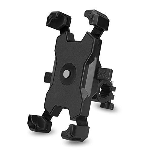 Lixada Soporte para Teléfono Móvil con Bloqueo Rápido de Bicicleta Soporte para Teléfono Móvil Giratorio y Ajustable de 360 ° Soporte para Teléfono Móvil con Espejo Retrovisor