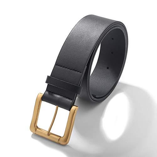 guodong Cinturón De Cuero para Mujer Coreana Casual Simple Pin Hebilla Cinturón Simple Student Tide Jeans Cinturón One Drop Shipping